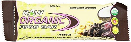 Экологически чистые продукты питания Бар Raw, шоколад Кокос, 1,76 унций (в упаковке 12)
