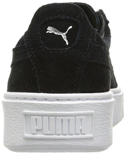 ... PUMA Damen Wildleder Plateau Core Fashion Sneaker Puma Schwarz   Puma  Weiß ... 582d206803