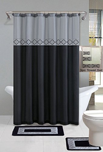 GorgeousHome Pattern Bathroom Curtain Plastic product image