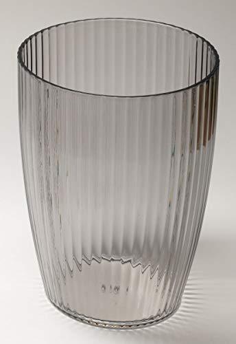 Ben & Jonah Ribbed Acrylic Waste Basket in Black Splash Collection ()
