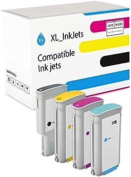 XL de Tinta Compatible para HP 728 4 Unidades MBK: 300 ml, C/M/Y: 130 ml: Amazon.es: Electrónica