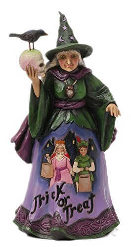 Jim Shore for Enesco Heartwood Creek Trick or Treat Witch Figurine, 9.25-Inch