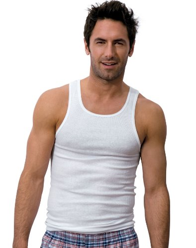 Hanes Classics Men's Classics 7-Pack A-Shirt Value Pack,White,Large