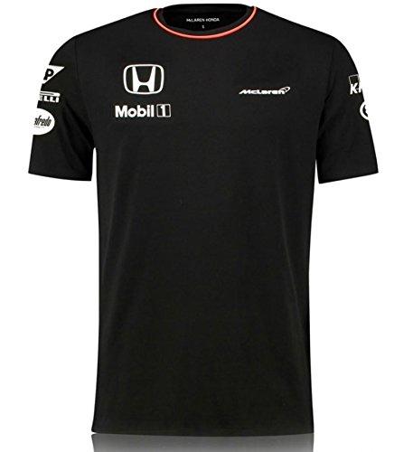 McLAREN F1 Herren Honda Team Set-Up Tee 2016 Black T-Shirt, Schwarz, XXL