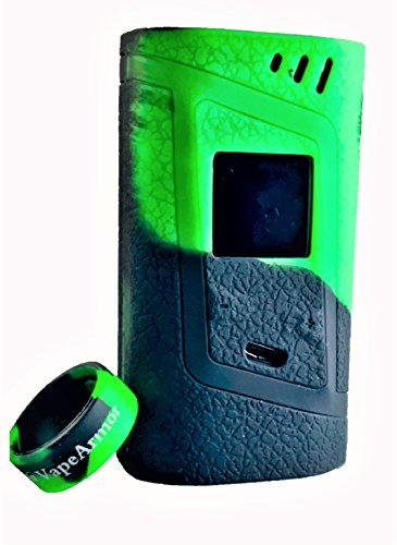 ModArmor, Alien 220w Case and Sleeve Silicone Cover + Mod Tank Band (Green/Black)