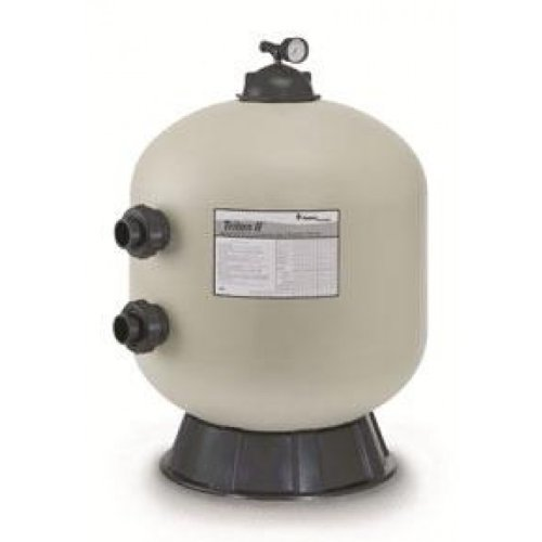 Mount Pentair Side - Pentair 140212 Triton II Side Mount Fiberglass Sand Pool Filter with ClearPro Technology , 3.14 Square Feet, 63 GPM (Residential), without Valve or Unions