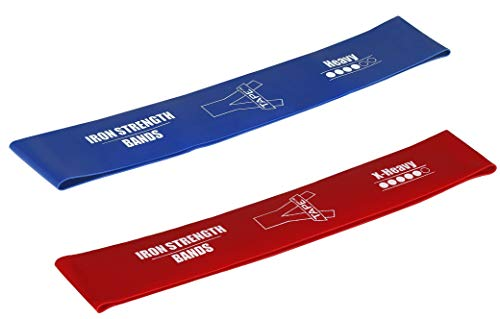 Agam PRG190 Exercise Sports Loop Band | X-Heavy and Heavy (Red | Blue, Pack of 2) Resistance Band Price & Reviews