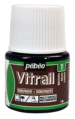(Pebeo Vitrail, Stained Glass Effect Paint, 45 ml Bottle - Brown)