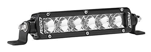 Rigid Industries 906113 SR-Series Pro Flood Light; Surface Mount; 6 in.; Single Row; 20 Degree; Hybrid; 6 White LEDs; 2 Piece;
