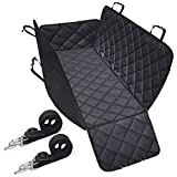 SHINE HAI Dog Car Seat Covers with Side Flaps, Nonslip Backing, Waterproof & Scratch Proof Hammock Convertible, Machine Washable Pet Backseat Cover for Cars Trucks and SUVs For Sale