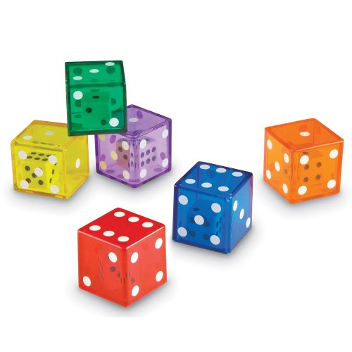 Learning Resources Jumbo Dice in Dice, Set of 12