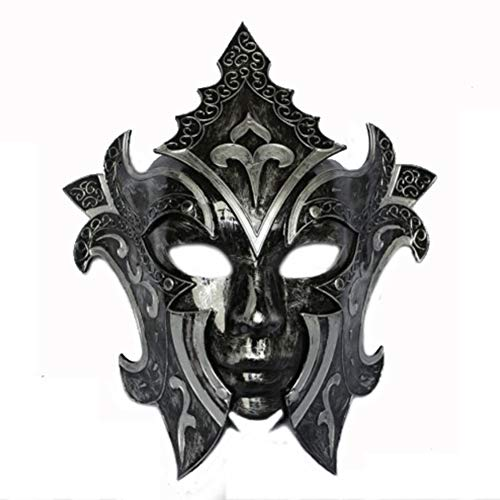 LIULINAN Halloween Mask Black Performance Party Masquerade Princess Venetian Mask Male and Female Gladiator for $<!--$49.99-->