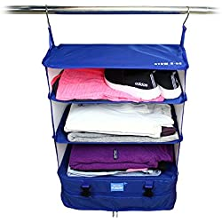 Stow-N-Go Portable Luggage System- Packable Hanging Shelves