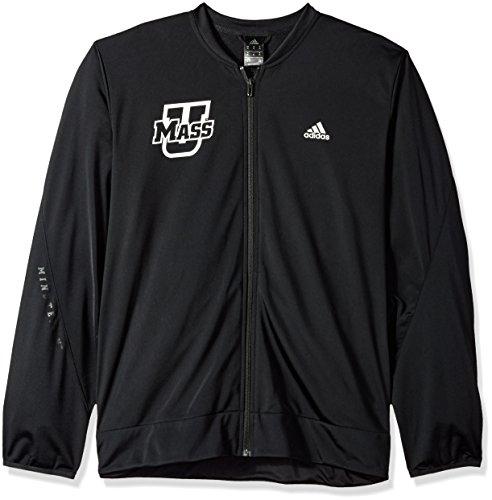 Adidas Court Sport Jacket - adidas NCAA Massachusetts Minutemen Mens On Court Warm-Up Jacketon Court Warm-Up Jacket, Black, X-Large