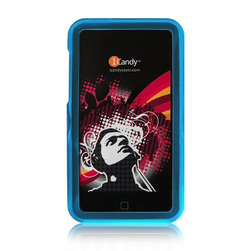 (iCandy Rave Polycarbonate Cases for 2nd & 3rd Generation iPod touch 2G 3G - BLUE)