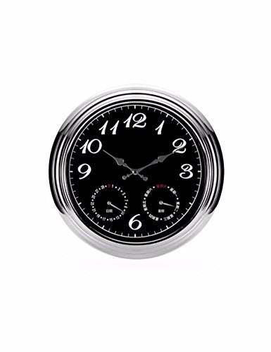 SUNQIAN-The living room wall clock, large bedroom fashion watch, round the clock, quartz clock Garden by SUNQIAN