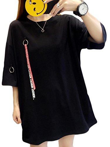 17a1caee32040 YiTong レディース シャツ 夏 ゆったり シャツ 無地 プルオーバー 半袖シャツ ゆったり Tシャツ カットソー おしゃれ