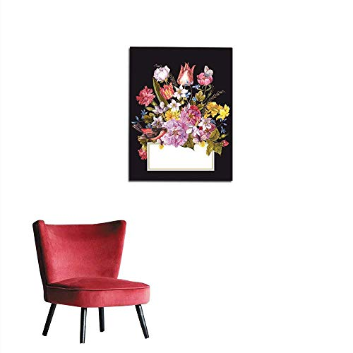 longbuyer Painting Post Spring Floral Retro Card in Vintage Style Mural 24