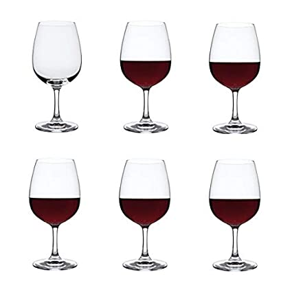 cfd9628d88e Dartington Crystal - Crystal Red Wine Glasses, Set of 6 x 450ml - Drink