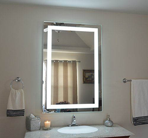 Wall Mounted Lighted Vanity Mirror MAM83248 Commercial Grade 32'' wide x 48'' tall by Mirrors and Marble