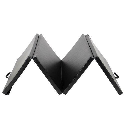 HPD Yoga Mats Folding Gymnastics Gym Exercise Stretching Black (4'x10'x2'')