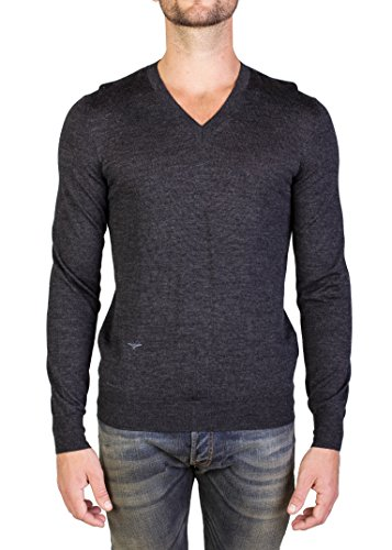 Dior Homme Virgin Wool V-Neck Sweater Charcoal - Dior Homme Dior