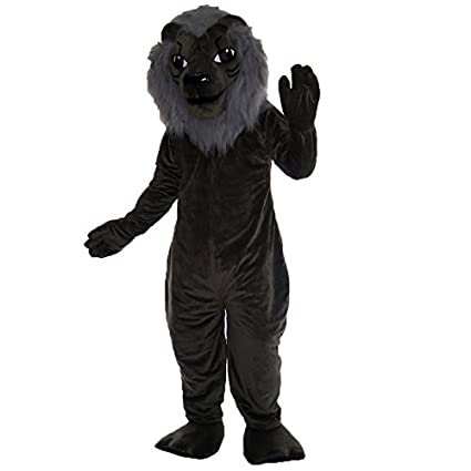 7b830761b Image Unavailable. Image not available for. Color: Grey lion Mascot Costume  Character (Special size custom)