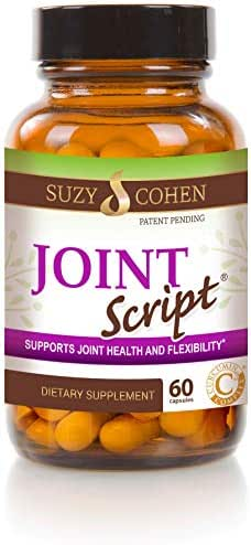 Joint Script Collagen with Curcumin for Healthy Joints, Cartilage and Flexibility Dietary Supplement 60 Capsules - by Suzy Cohen, RPh