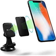 Car Phone Mount, Vena [6Netic] Magnetic Car Mount, Windshield & Dashboard Suction Cup Holder for iPhone X/8 Plus/8, Galaxy Note 8 S9 S8 Plus S8, Google Pixel 2/2 XL, LG V30/G6, HTC, Motorola - Black