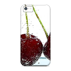 New Snap-on MagicSpace Skin Case Cover Compatible With Iphone 5c- Red Cherries
