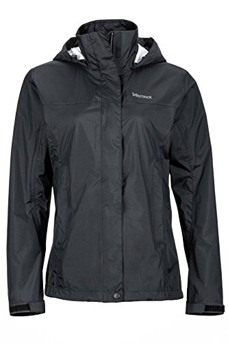 Marmot PreCip Women's Lightweight Waterproof Rain Jacket, Black, Large