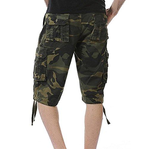 Casual in Green Camouflage Casual Adeshop Large Tasca stile pantaloni Multicolor Men Army Nuovo Tuta ampia Pantaloncini Short SwXTPpq