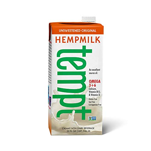 Living Harvest Tempt Hemp Milk, Unsweetened Original, 32-Ounce Containers (12 Pack)