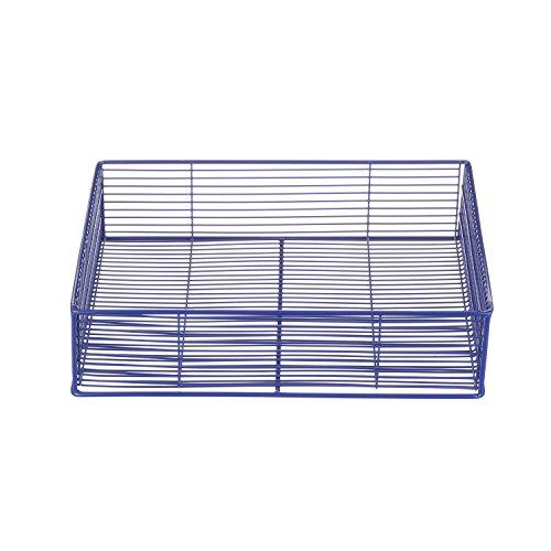 Marlin Steel Plain Steel Wire Tote Basket, Blue Powder Coat (11