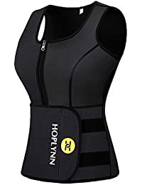 Sweat Vest for Women, Adjustable Neoprene Sauna Waist Trainer Vest for Weight Loss (see the size chart)