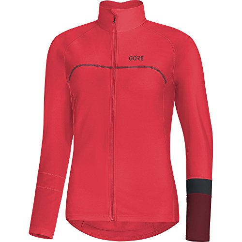 - GORE WEAR C5 Women's Long Sleeve Cycling Jersey, S, Hibiscus Pink/Chestnut Red