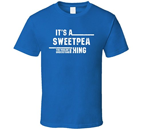 Sweet Pea Florist (a Sweetpea Thing Wouldn't Understand Funny Florist Worn Look T Shirt 2XL Royal Blue)