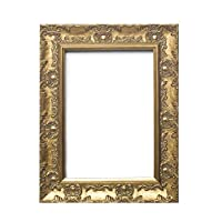 """Paintings Frames Wide Ornate Shabby Chic Swept/Muse Picture/Photo/Poster Frame with an MDF Backing Board Hang-with Styrene Shatterproof Perspex Sheet - 11"""" x 17"""" Gold"""