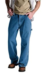 Dickies Men\'s Relaxed Fit Carpenter Jean, Stone Washed Indigo Blue, 40W x 34L