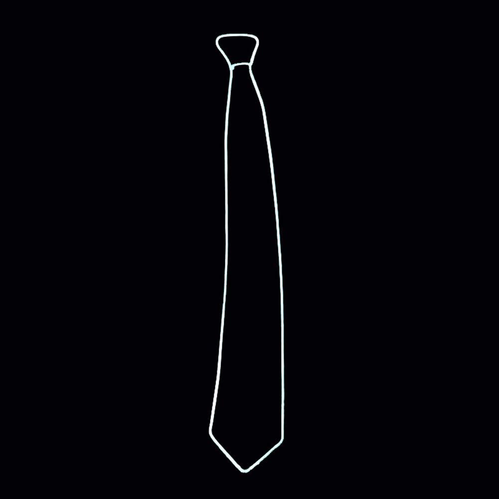 Rosa Glaray novit/à Luminoso Cravatta Accendi LED Cravatta Regolabile El Wire Cravatte incandescente