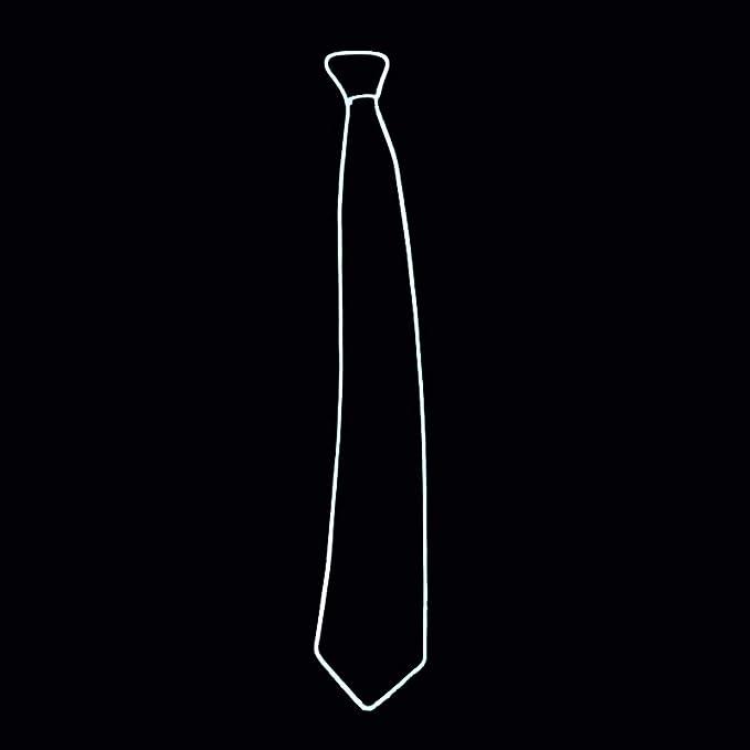 Corbata luminosa led para hombre de color blanco