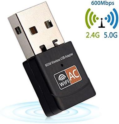 ZXCV Libre Controlador USB WiFi Adaptador 600Mbps 5 GHz ...
