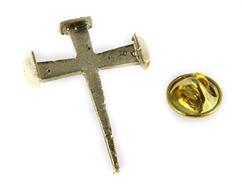 6030460 Rugged Cross Nail Lapel Pin Crucifix Brooch Tie Tack Jesus