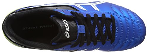 Asics Lethal Tackle Gs - Zapatillas de rugby Unisex adulto Azul (Electric Blue/White/Flash Yell 3901)