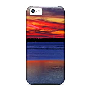 EButcher VSd-325BKOz Case For Iphone 5c With Nice Splash Of Colors At Sunset Appearance