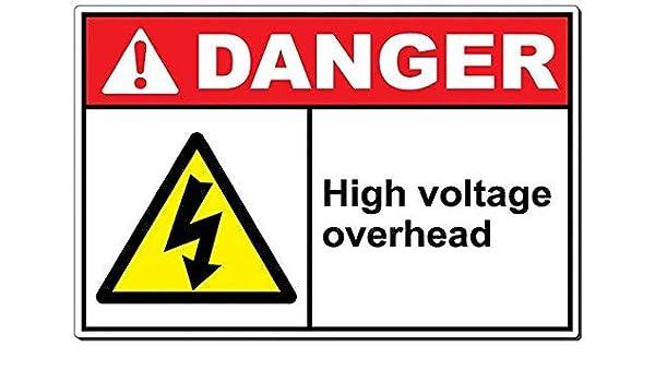 Edwiin Jackson Danger: Señal de Aluminio de Alta tensión ...