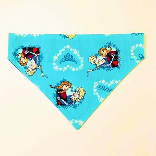 Disney Frozen Pet Dog Bandana No-Tie Design by Barking Bad Bakery and Boutique