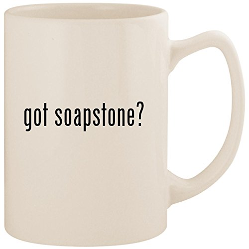 got soapstone? - White 14oz Ceramic Statesman Coffee Mug Cup