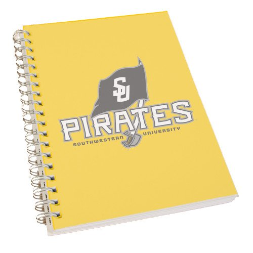 CollegeFanGear Southwestern Clear 7 x 10 Spiral Journal Notebook 'Official Logo' by CollegeFanGear