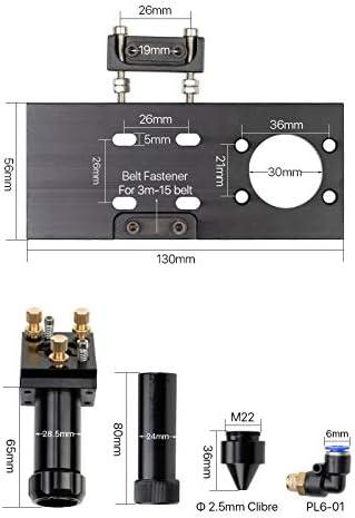 without Wnj-parts, 1set CO2 Laser Head Set/Mirror And Focus Lens Integrative Mount Houlder For Laser Engraving Cutting Machine (Size : Laser Head 50.8mm)